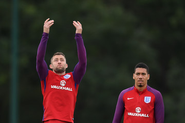 Chris Smalling England Training Session and Press Conference
