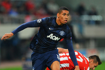 Chris Smalling Olympiacos FC v Manchester United