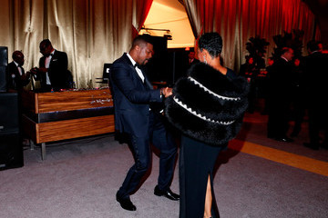 Chris Tucker The Weinstein Company and Netflix Golden Globe Party- Inside