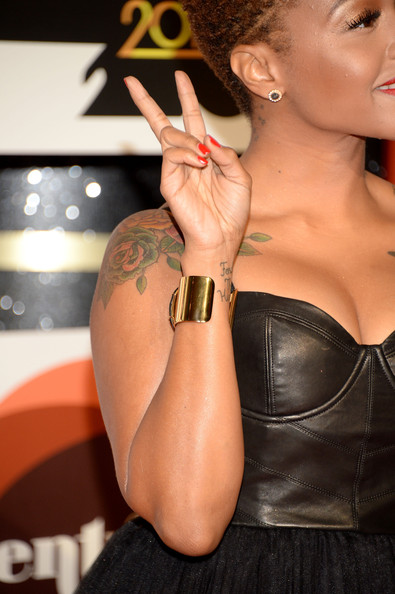 Chrisette Michele 2013 Tattoos Arrivals at the soul train