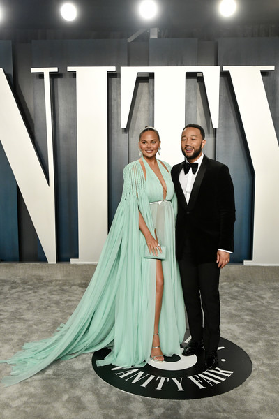 2020 Vanity Fair Oscar Party Hosted By Radhika Jones - Arrivals [formal wear,dress,fashion,gown,haute couture,fashion design,suit,event,photography,outerwear,radhika jones - arrivals,radhika jones,john legend,chrissy teigen,l-r,beverly hills,california,wallis annenberg center for the performing arts,oscar party,vanity fair,radhika jones,billy porter,wallis annenberg center for the performing arts,oscar party,vanity fair,celebrity,92nd academy awards,party,actor,hollywood]