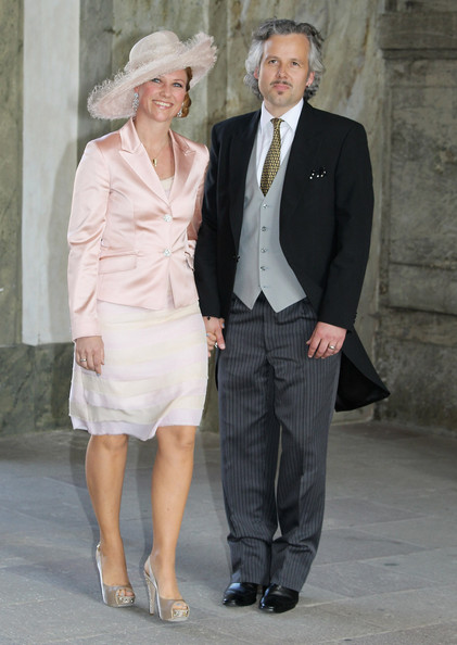 Princess Martha Louise of Norway and Ari Behn attend the christening of new Swedish heir to the throne Princess Estelle Silvia Ewa Mary of Sweden at The Royal Palace on May 22, 2012 in Stockholm, Sweden.