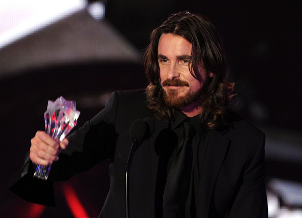 Christian Bale Actor Christian Bale accepts the Best Supporting Actor award ...
