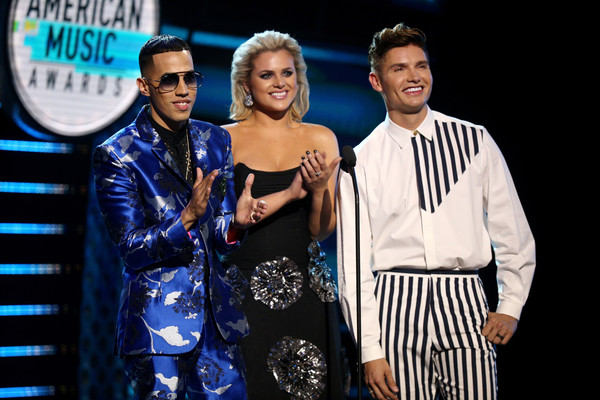 2018 Latin American Music Awards - Show [event,performance,fashion,talent show,fashion design,performing arts,competition,formal wear,brytiago,christian acosta,isabella castillo,latin american music awards,l-r,california,hollywood,dolby theatre,show]
