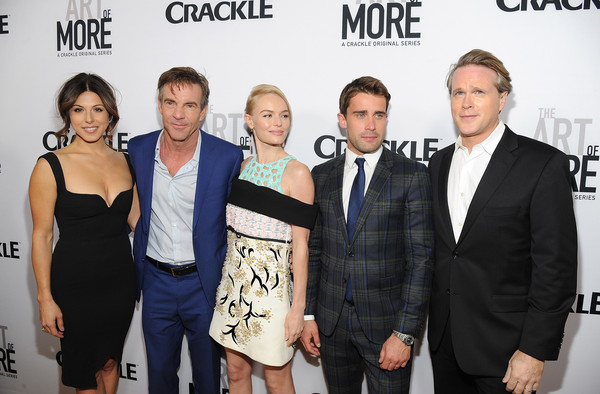 Premiere of Crackle's 'The Art of More' - Red Carpet [the art of more,premiere,event,fashion,white-collar worker,style,actors,christian cooke,kate bosworth,christina rosato,l-r,crackle,red carpet,premiere,premiere]