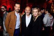 (L-R) Laurent Laffite, Christian Louboutin and Melita Toscan du Plantier attend the Loubicircus Party by Christian Louboutin at Musee des Arts Forains as part of Paris Fashion Week on June 19, 2019 in Paris, France.