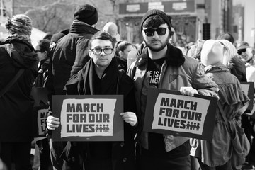 Christian Siriano Brad Walsh March For Our Lives New York City