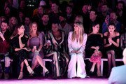 Kyle Smith, Angela Sarafyan, Alicia Silverstone, Leslie Jones, Heidi Klum, Rachel Bilson and Alexa Chung attend the front row for Christian Siriano during New York Fashion Week: The Shows at Gallery I at Spring Studios on February 06, 2020 in New York City.