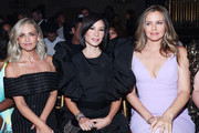 (L - R) Sarah Michelle Gellar, Lucy Liu and Alicia Silverstone attend the Christian Siriano Fashion Show during New York Fashion Week: The Shows at Gotham Hall on September 07, 2019 in New York City.