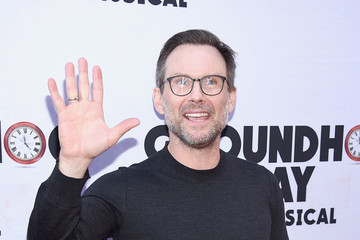 "Christian Slater ""Groundhog Day"" Broadway Opening Night - Arrivals & Curtain Call"