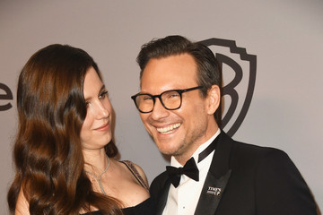 Christian Slater Brittany Lopez Warner Bros. Pictures And InStyle Host 19th Annual Post-Golden Globes Party - Arrivals