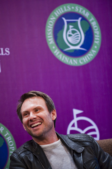 Christian Slater Actor Christian Slater of USA attends the opening press conference of the Mission Hills Star Trophy on October 27, 2010 in Haikou, China. The Mission Hills Star Trophy is Asia's leading leisure liflestyle event and features Hollywood celebrities and international golf stars.