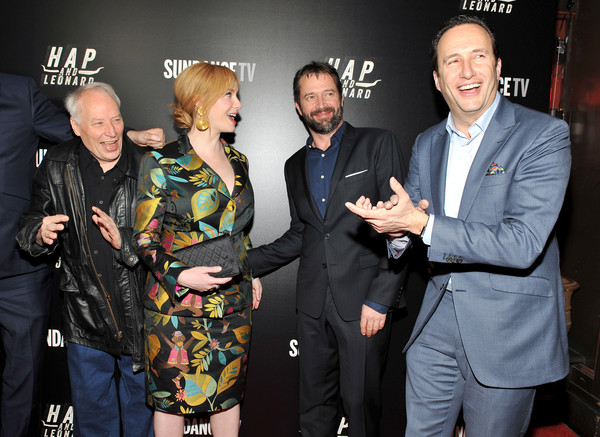 'Hap and Leonard' Private Premiere Party [event,fashion,premiere,performance,charlie collier,james purefoy,christina hendricks,joe lansdale,l-r,new york city,hap and leonard private premiere party,hill country bbq,hap and leonard private premiere party]