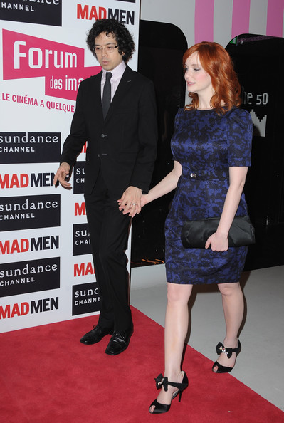Christina Hendricks Geoffrey Arend and Christina Hendricks attend the 'Mad Men' photocall at Forum Des Images on February 9, 2011 in Paris, France.