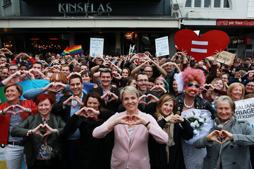 Christine Forster Dr Kerryn Phelps Australians Rally For Free Vote on Marriage Equality Sydney