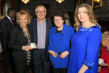 Christopher Biggins Penny Mordaunt MP The Eve Appeal Makes Time for Tea