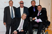 """(L-R) Peter Wilderotter, Jim McMahon, Mike Ditka, Alan Brown, and Danny Heuman attend The Christopher & Dana Reeve Foundation's """"A Magical Evening Chicago"""" at Peninsula Hotel on October 22, 2015 in Chicago, Illinois."""