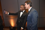 "DJ Whoo Kid and Jerry OConnell during ""A Magical Evening"" Gala hosted by The Christopher & Dana Reeve Foundation a at Conrad Hotel on November 16, 2017 in New York City."