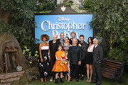 (L-R) Sophie Okonedo, Marc Forster, Mark Gatiss, Bronte Carmichael, Hayley Atwell, Simon Farnaby, Jim Cummings, Ewan McGregor, Renee Wolf, Brigham Taylor attend the European Premiere of 'Christopher Robin' at BFI Southbank on August 5, 2018 in London, England.
