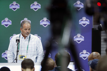 Chuck Pagano NFL Combine - Day 2