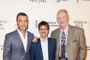 """Liev Schreiber, Philippe Falardeau and Chuck Wepner attend the """"Chuck"""" Premiere - 2017 Tribeca Film Festival on April 28, 2017 in New York City."""