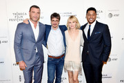 """Liev Schreiber, Philippe Falardeau, Naomi Watts and Pooch Hall attends the """"Chuck"""" Premiere - 2017 Tribeca Film Festival on April 28, 2017 in New York City."""