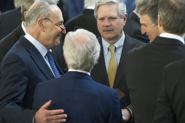 Chuck Schumer Rev. Billy Graham Lies In Repose In US Capitol Rotunda