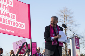 Chuck Schumer Schumer, Patty Murray Attend Pro Planned Parenthood Rally on Capitol Hill