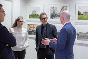 Director Joe Wright, Gisele Schmidt, Actor Gary Oldman and Michael Bishop Director, The National Churchill Library and Center at Churchill Library Meet and Greet - Darkest Hour Tour at National Churchill Library and Center on November 3, 2017 in Washington, DC.