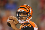 Quarterback Jason Campbell #17 of the Cincinnati Bengals throws a pass during the preseason NFL game against the Arizona Cardinals at the University of Phoenix Stadium on August 24, 2014 in Glendale, Arizona. The Bengals defeated the Cardinals 19-13.