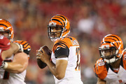 Quarterback Jason Campbell #17 of the Cincinnati Bengals drops back to pass during the preseason NFL game against the Arizona Cardinals at the University of Phoenix Stadium on August 24, 2014 in Glendale, Arizona.  The Bengals defeated the Cardinals 19-13.