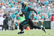 Chris Ivory #33 of the Jacksonville Jaguars runs with the football in the second half of their game against the Cincinnati Bengals at EverBank Field on November 5, 2017 in Jacksonville, Florida.