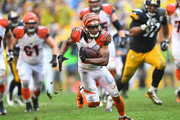 James Wright #86 of the Cincinnati Bengals runs after making a catch in the second half during the game against the Pittsburgh Steelers at Heinz Field on September 18, 2016 in Pittsburgh, Pennsylvania.