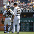 Charlie Morton and Michael McKenry Photos