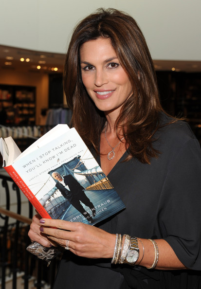 Weintraub s new book in this photo cindy crawford actress model cindy