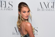 """Romee Strijd attends the """"ANGELS"""" by Russell James book launch and exhibit hosted by Cindy Crawford and Candice Swanepoel at Stephan Weiss Studio on September 6, 2018 in New York City."""