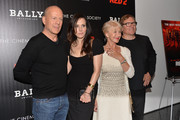 (L-R) Actors Bruce Willis, Mary-Louise Parker, Helen Mirren and director Dean Parisot attend The Cinema Society and Bally host a screening of Summit Entertainment's 'Red 2' at MOMA on July 16, 2013 in New York City.