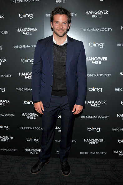 "Actor Bradley Cooper attends the Cinema Society & Bing screening of ""The Hangover Part II"" at Landmark Sunshine Cinema on May 23, 2011 in New York City."