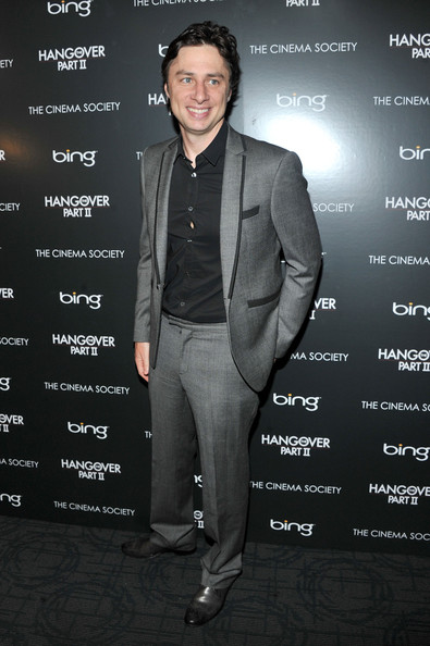 "Actor Zach Braff attends the Cinema Society & Bing screening of ""The Hangover Part II"" at Landmark Sunshine Cinema on May 23, 2011 in New York City."