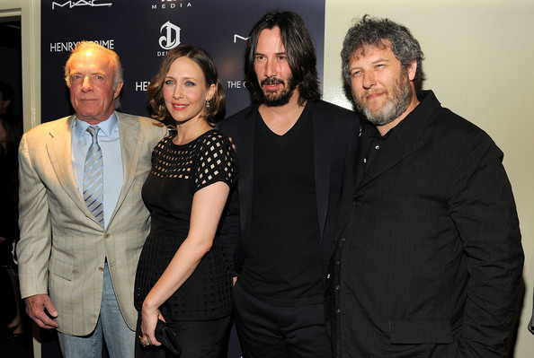 "Actors James Caan, Vera Farmiga, Keanu Reeves and director Malcolm Venville attend the Cinema Society with DeLeon Tequila and Moving Pictures Film & Television screening Of ""Henry's Crime"" at Landmark's Sunshine Cinema on April 4, 2011 in New York City."
