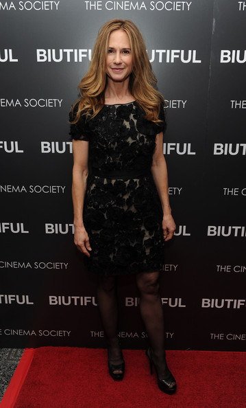 "Actress Holly Hunter attends a screening of ""Biutiful"" hosted by the Cinema Society with Miuccia Prada, Sandra Brant & Ingrid Sischy at the Lighthouse Theater on December 1, 2010 in New York City."
