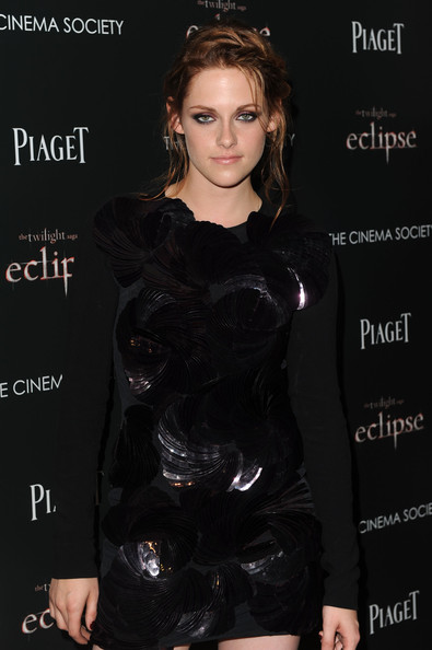 "Kristen Stewart Actress Kristen Stewart attends The Cinema Society Screening Of ""The Twilight Saga: Eclipse"" at Crosby Street Hotel on June 28, 2010 in New York, New York."