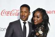 Director Nate Parker (L), recipient of the Breakthrough Director of the Year Award, and actress Aja Naomi King attend the CinemaCon Big Screen Achievement Awards brought to you by the Coca-Cola Company at Omnia Nightclub at Caesars Palace during CinemaCon, the official convention of the National Association of Theatre Owners, on April 14, 2016 in Las Vegas, Nevada.