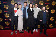 """Actors Ezra Miller, Alison Sudol, Callum Turner, Katherine Waterston, Eddie Redmayne and Dan Fogler attend CinemaCon 2018 Warner Bros. Pictures Invites You to """"The Big Picture"""", an Exclusive Presentation of our Upcoming Slate at The Colosseum at Caesars Palace during CinemaCon, the official convention of the National Association of Theatre Owners, on April 24, 2018 in Las Vegas, Nevada."""