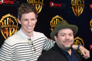 """Actors Eddie Redmayne (L) and Dan Fogler attend CinemaCon 2018 Warner Bros. Pictures Invites You to """"The Big Picture"""", an Exclusive Presentation of our Upcoming Slate at The Colosseum at Caesars Palace during CinemaCon, the official convention of the National Association of Theatre Owners, on April 24, 2018 in Las Vegas, Nevada."""