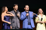 (L-R) Eva Longoria, Eugenio Derbez, Michael Pena and Isabela Moner at CinemaCon 2019- Paramount Pictures Invites You to an Exclusive Presentation Highlighting Its Upcoming Slate at The Colosseum at Caesars Palace during CinemaCon, the official convention of the National Association of Theatre Owners, on April 4, 2019 in Las Vegas, Nevada.