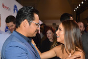 (L-R) Michael Pena and Eva Longoria at CinemaCon 2019- Paramount Pictures Invites You to an Exclusive Presentation Highlighting Its Upcoming Slate at The Colosseum at Caesars Palace during CinemaCon, the official convention of the National Association of Theatre Owners, on April 4, 2019 in Las Vegas, Nevada.