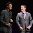 Adam Fogelson and Chadwick Boseman Photos