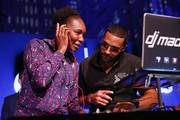 Tennis player Venus Williams and DJ Mad Linx peform onstage during the Citi Taste Of Tennis gala on August 23, 2018 in New York City.