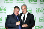 Chefs Francois Payard (L) and Eric Ripert attend City Harvest's 22nd Annual an Evening of Practical Magic on April 12, 2016 in New York City.
